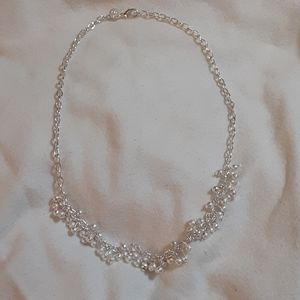 925 plate silver chain accented with tiny balls